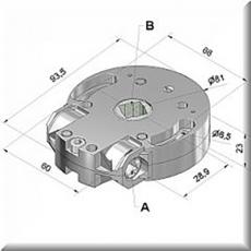 Schneckengetriebe 10:1 SW 40  Antrieb 8mm 4Knt