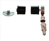 Wellengarnitur für Nutrohr 48mm mit Schneckengetriebe