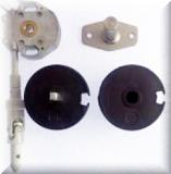 Wellengarnitur für Nutrohr 63mm mit Schneckengetriebe