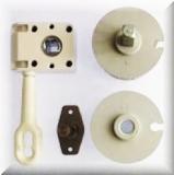 Wellengarnitur für Nutrohr 78mm mit Schneckengetriebe