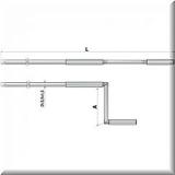 Gelenkkurbel 120cm eloxiert