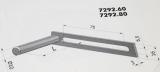 Fixierbolzen mit Flansch 7292.60 für Kegelradgetriebe 5:1 SW60